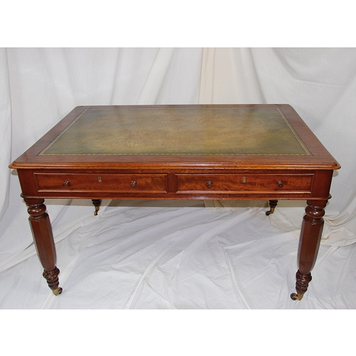 English William IV Partners Writing Table - Antique Desks - The Farm Antiques, Wells Maine