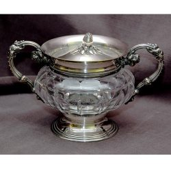 French Christolfe Crystal and Silverplate